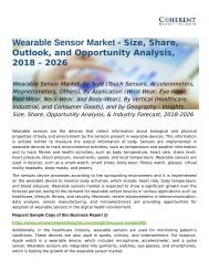 Wearable Sensor Market Industry Forecast, 2018-2026