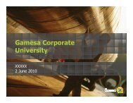 Organisation - Gamesa