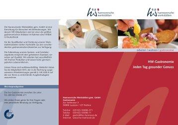 HW-Gastronomie Jeden Tag gesunder Genuss - Hannoversche ...