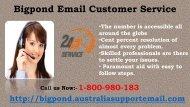 Bigpond Email Customer Service Call 1-800-980-183