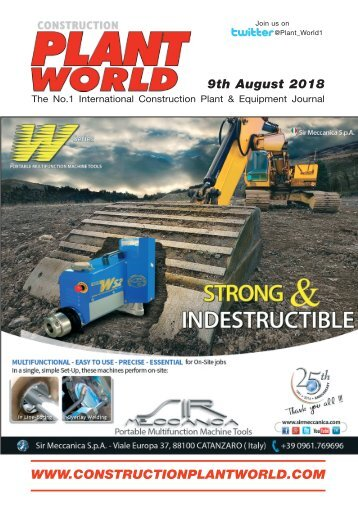 Construction Plant World 9 August 2018