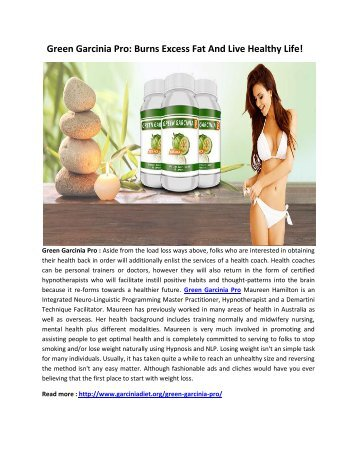 Green Garcinia Pro: Burn Fat And Lose Weight Quickly