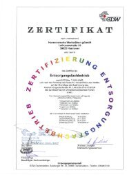 Zertifikat - Hannoversche Werkstätten