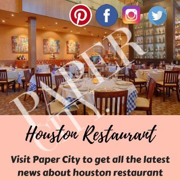 News about Houston Restaurants