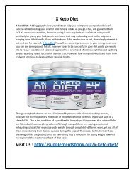 X Keto Diet - Increase Your Metabolism Rate To Reduce Fat Fast!