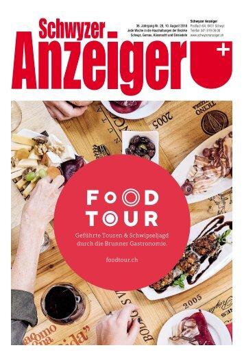 Schwyzer Anzeiger – Woche 32 – 10. August 2018