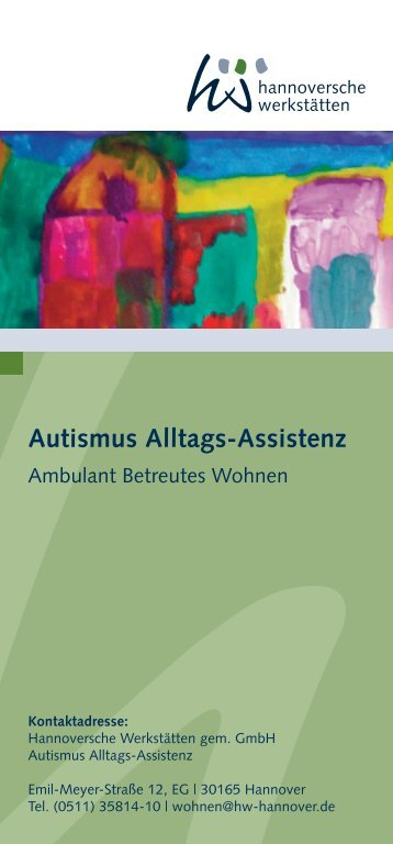 Autismus Alltags-Assistenz - Hannoversche Werkstätten
