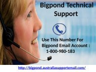 Bigpond Technical Support Australia 1-800-980-183| Solve Login Issue In A Minute