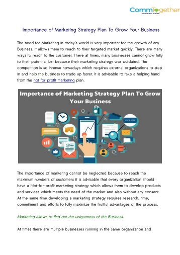 Importance of Marketing Strategy Plan To Grow Your Business