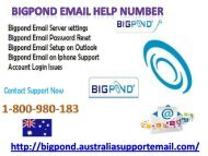Secure Your Account Via Bigpond Email Help Number 1-800-980-183