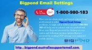 Bigpond Email Settings 1-800-980-183 | Setting Method