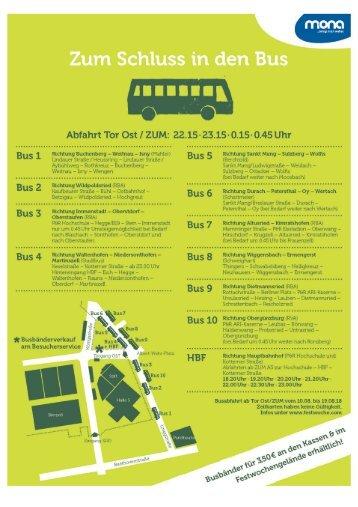Allgäuer Festwoche 2018: Busplan