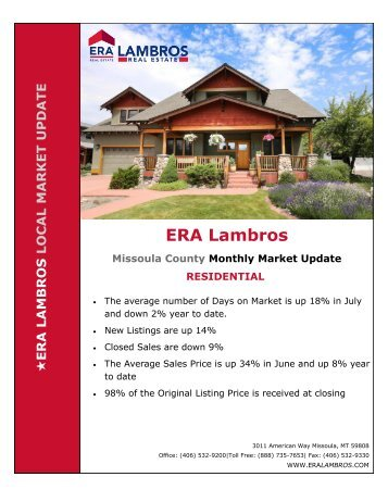 Missoula Residential Update - July 2018