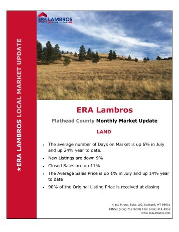 Flathead County Land Market Update - July 2018