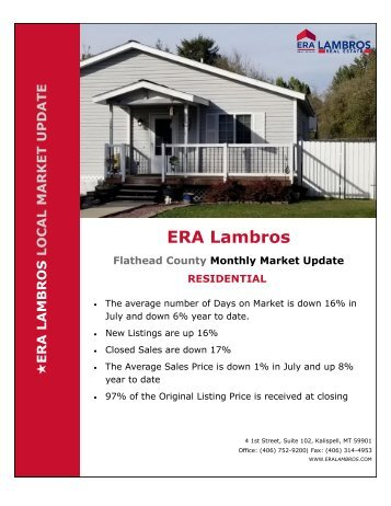 Flathead County Residential Market Update - July 2018