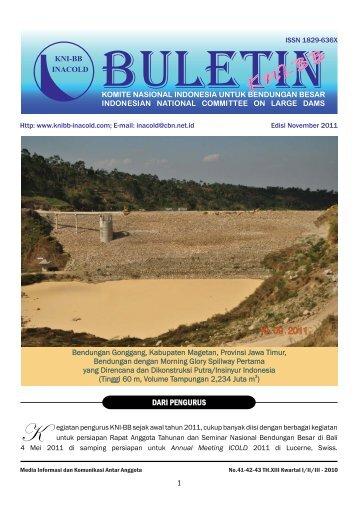 pembangunan bendungan gonggang di kabupaten magetan jawa timur
