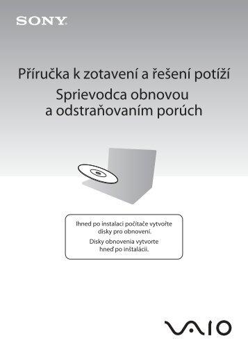 Sony VPCS11X9R - VPCS11X9R Guide de dépannage Tchèque