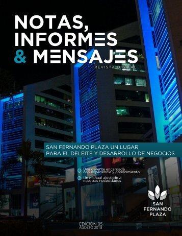 Revista Agosto San Fernando Plaza 2018