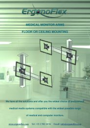 CATALOGUE MEDICAL MONITOR ARMS FLOOR OR CEILING MOUNTING_HI
