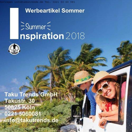 Werbeartikel Sommer günstig von  Taku Trends