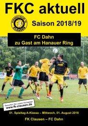 FKC Aktuell - 01. Spieltag - Saison 2018/2019