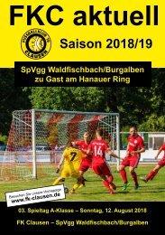 FKC Aktuell - 02. Spieltag - Saison 2018/2019