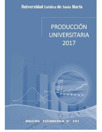 PRODUCCION UNIVERSITARIA - 2017