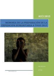 Memoria ACCI 2015