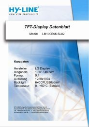 TFT-Display Datenblatt - Hy-Line
