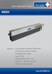 Download Data Sheet - IB Laser