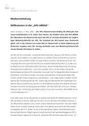 Medienmitteilung Willkommen in der .;AFG ARENA.