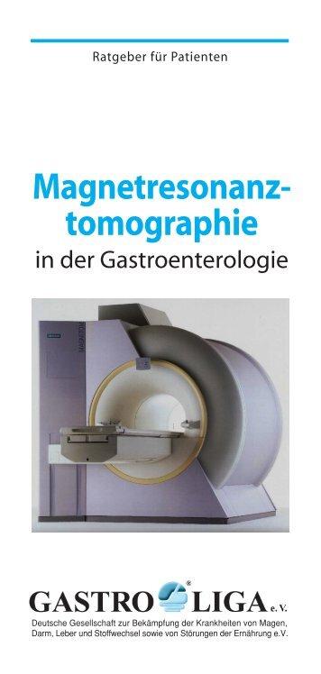 Flyer Gastro-Magnetresonanz -  Gastro Liga