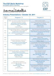 Industry Presentations • October 30, 2011 The ICEF Berlin Workshop