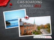 CAIS Boarding Schools -  ICEF