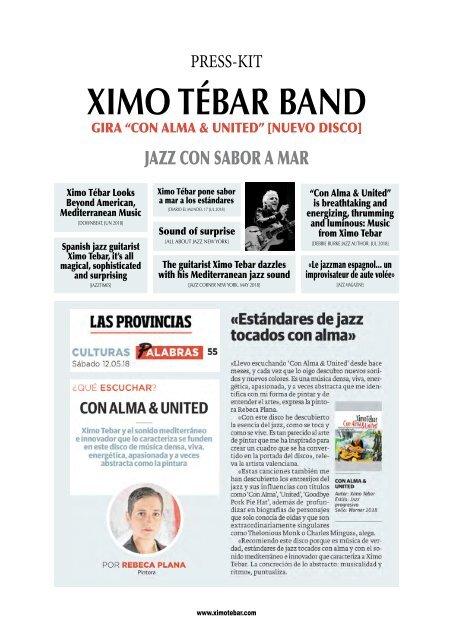 "Press-Kit Ximo Tebar ""Con Alma & United"" [2018]"