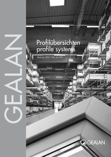 Profilübersichten profile systems - Gealan