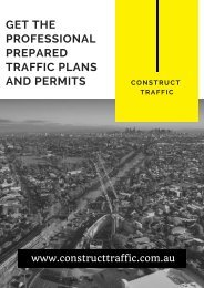 Get the Professional Prepared Traffic Plans and Permits With Construct Traffic