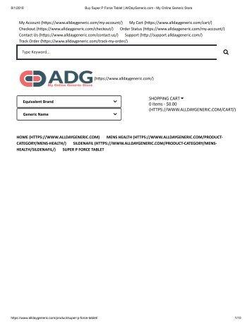 Buy Super P Force Tablet _ AllDayGeneric.com - My Online Generic Store