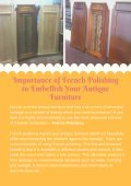 Importance of French Polishing to Embellish Your Antique Furniture - Page 2