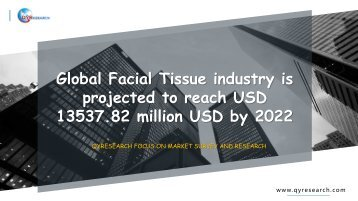 Global Facial Tissue industry is projected to reach USD 13537.82 million USD by 2022