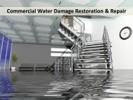 Commercial Water Damage Restoration & Repair Raleigh NC