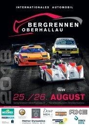 Bergrennen Oberhallau Programmheft 2018