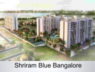 Shriram Blue Bangalore Apartments