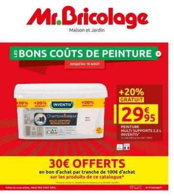 Mr. Bricolage catalogue 1 août -19 août 2018