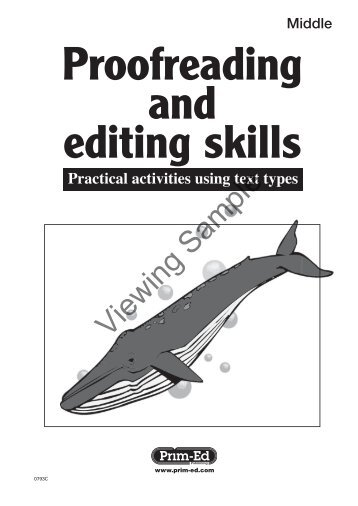 PR-0793IRE Proofreading and Editing - Middle