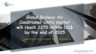 Global Railway Air Conditioner Units market will reach 1270 million US$ by the end of 2025