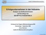 Erfolgsunternehmen - Institut für Mittelstandsforschung Bonn