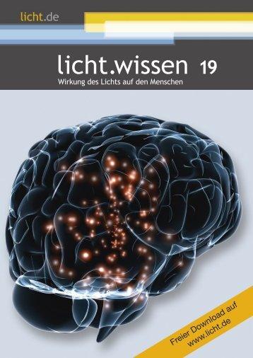"""licht.wissen 19 """"Wirkung des Lichts auf den Menschen"""""""