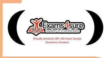CRT-160 Exam Dumps