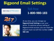 Bigpond Email Settings 1-800-980-183|  Synchronization issue